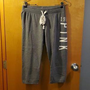 VS Pink Crop Sweatpants